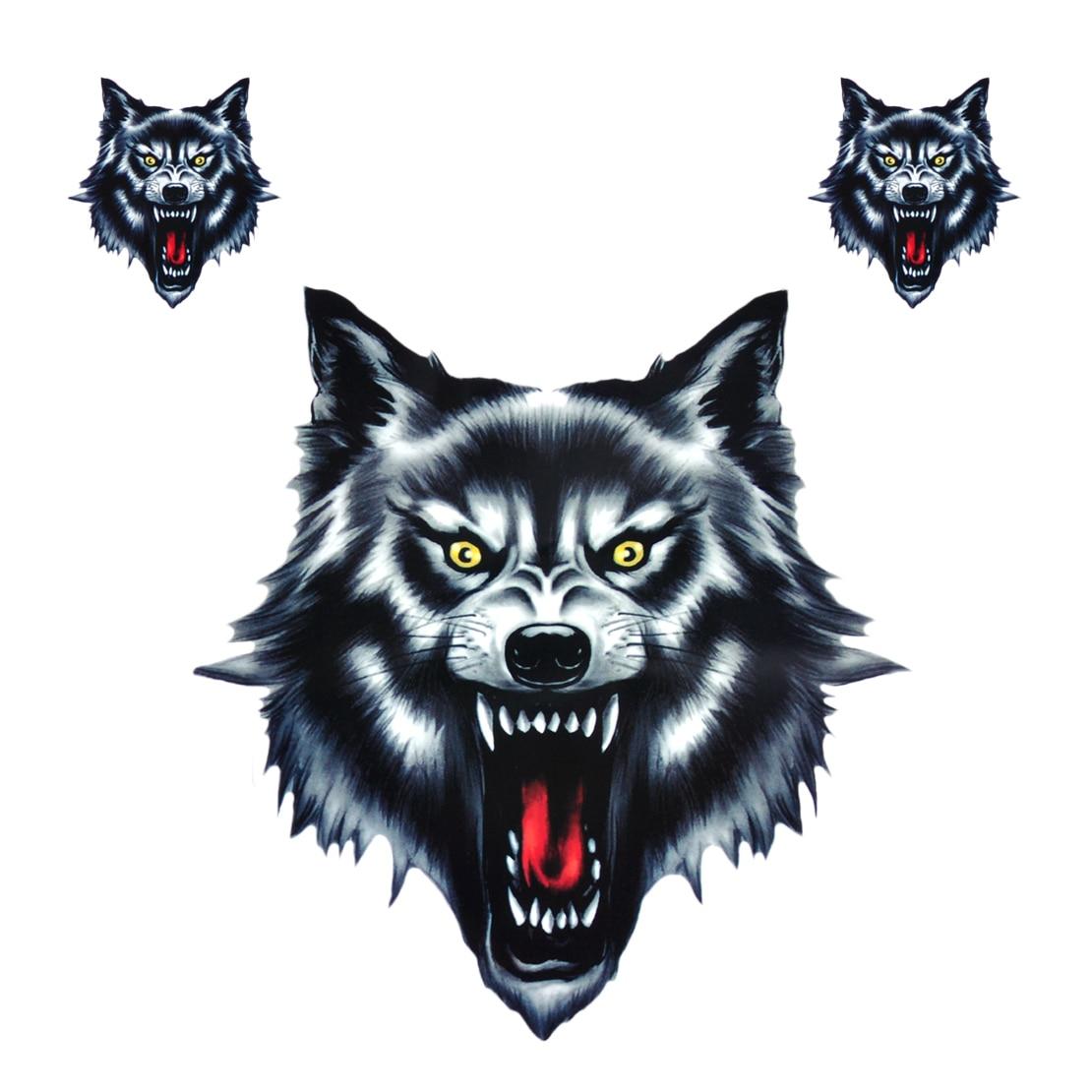 CITALL Wolf Head Decal Vinyl 18*25cm Funny Waterproof Sticker Fit For Motorcycle Motorbike Car Truck Helmet
