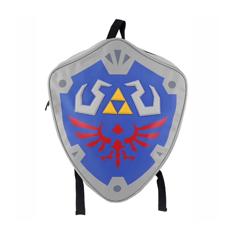 Anime The Legend of Zeld Cosplay Backpacks Zelda link Shield Backpack PU Bag in Tag Christmas Gift Cosplay Bags Game Gifts