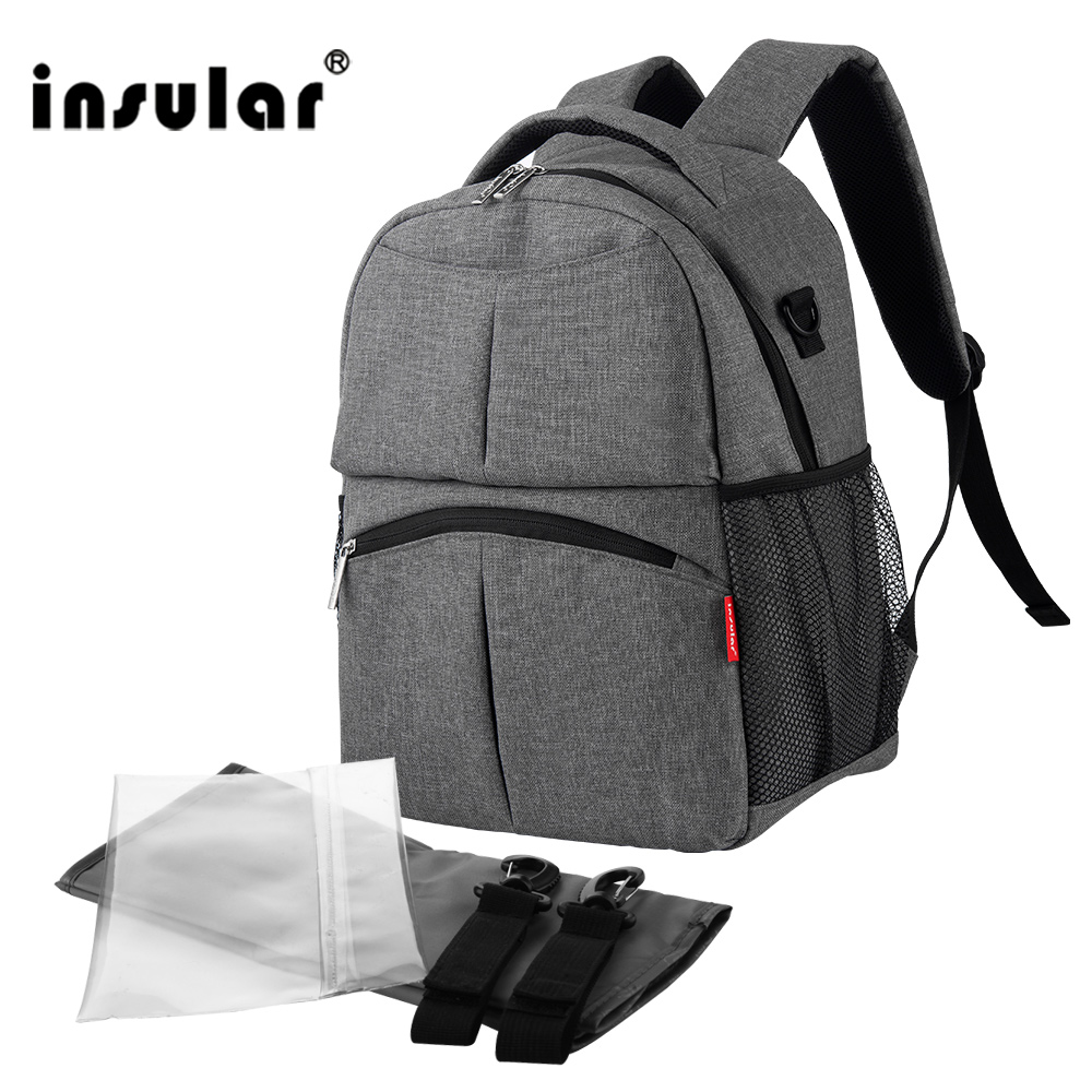 2017 New Style Shipping Free Solid Color Baby Diaper Bag Backpack Multifunctional Mommy Bag Backpack Waterproof