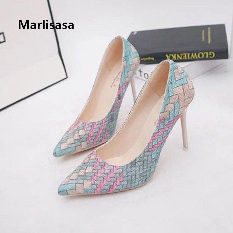 Marlisasa Tacones Altos Women Cute Pointed Toe High Quality High Heel Pumps Lady Casual Street & Party High Heel Shoes F546