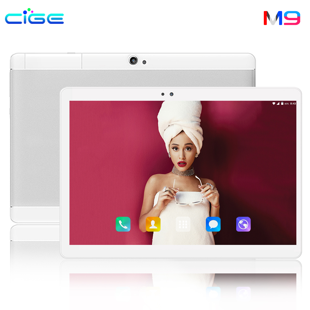 CIGE 10.1 inch tablet 4G Phone Call tablets Android 8.0 Octa Core 6G+64G Android 8.0 Tablet pc WiFi Bluetooth GPS IPS Tablet PC(China)