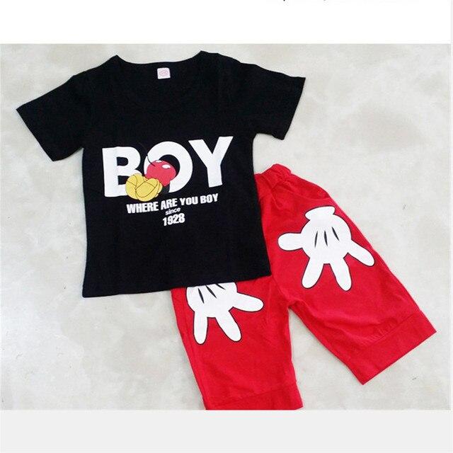 2pcs Baby Boy Clothing Set Summer Baby Boy Clothes Cotton Children