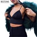 Mulheres Sexy Colheita Bustier Top Feminino Profundo Decote Em V Tanque da Correia encabeça Mulheres Cams Magro Street Wear Camisole Sólidos Senhora Elegante Top colheita