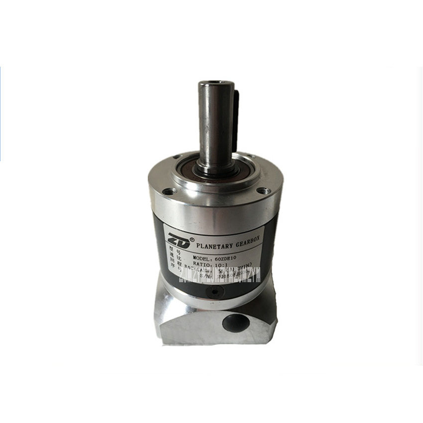 1:10 ratio 60ZDE10K Planetary Reducer Gearbox Applicate for Stepper Motor Servo Motor Micro Speed Gearbox 200W 6.15N.m. 300rpm high precision 3 stages lrh90 19mm 12 arcm planetary gear reducer disc type ratio 80 1 100 1 for nema32 80mm servo motor