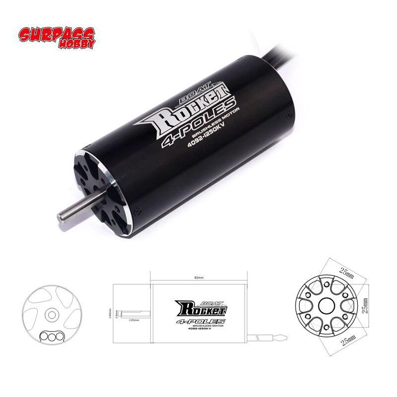 Rocket 4092 1520KV 1250KV 1100KV 920KV 800KV 4 Poles DIY Brushless Motor for 1000mm or Above