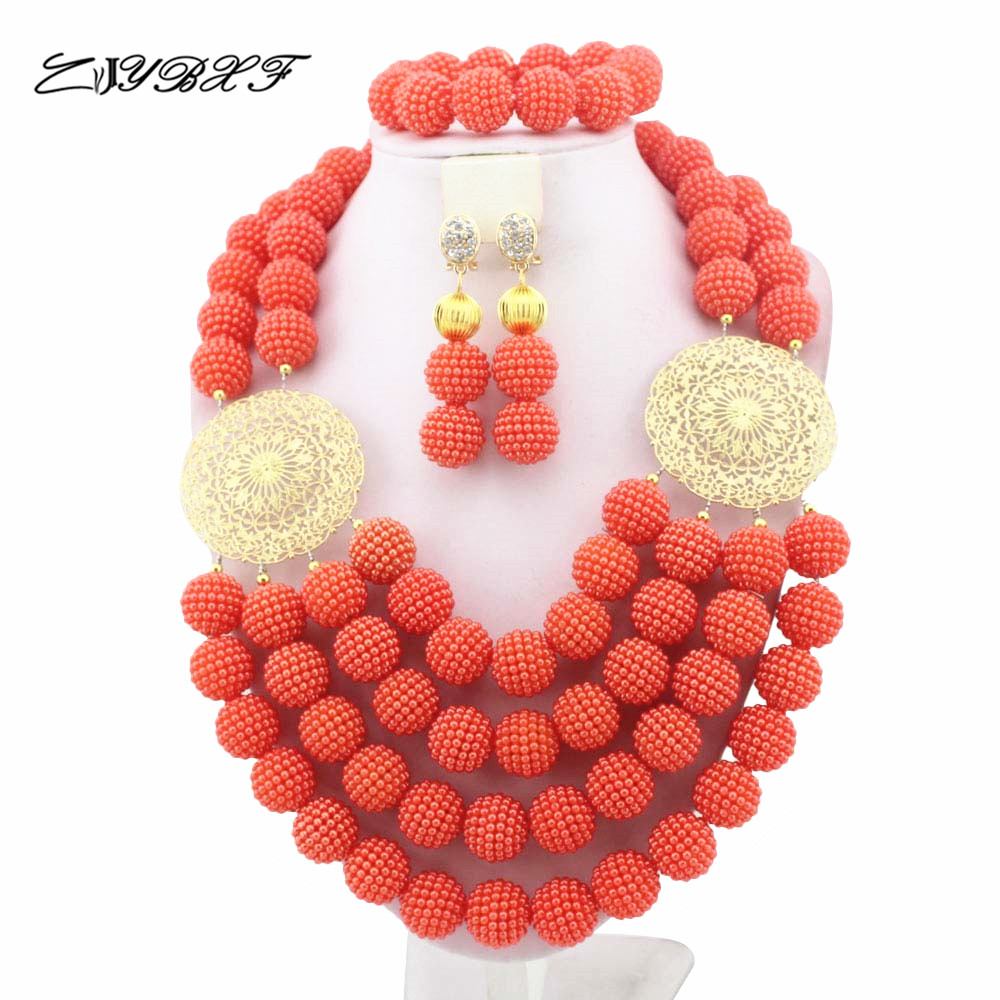 Splendid African Beads Jewelry Sets Nigerian Wedding African Coral Beads Jewelry Set L1257Splendid African Beads Jewelry Sets Nigerian Wedding African Coral Beads Jewelry Set L1257