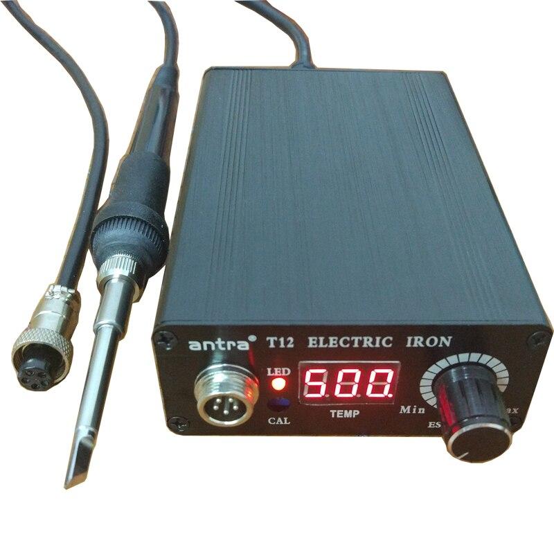 Antra паяльная станция T12 с быстрым нагревом, электронный сварочный паяльник, автоматический режим сна, автоматический режим ожидания, термос...