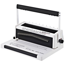 W200PRO iron ring binding machine text tender wire binding machine double coil full pumping knife binding