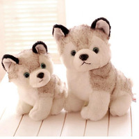 J244 Hot Sale Super Cute 18cm Puppy Stuffed Doll Plush Toys Simulation Husky Dogs Kids Appease