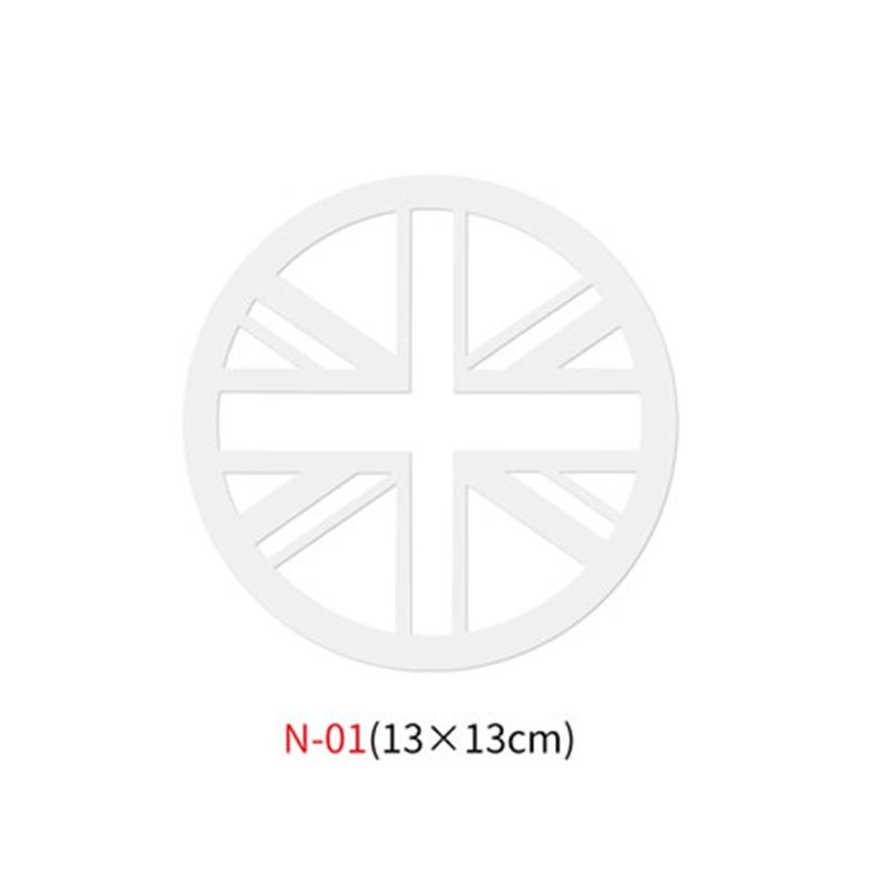 Различные автомобильные наклейки Union Jack для Mini Cooper One S JCW Countryman Clubman F55 F56 R55 R56 R60 F60 автомобильные аксессуары - Название цвета: N-01