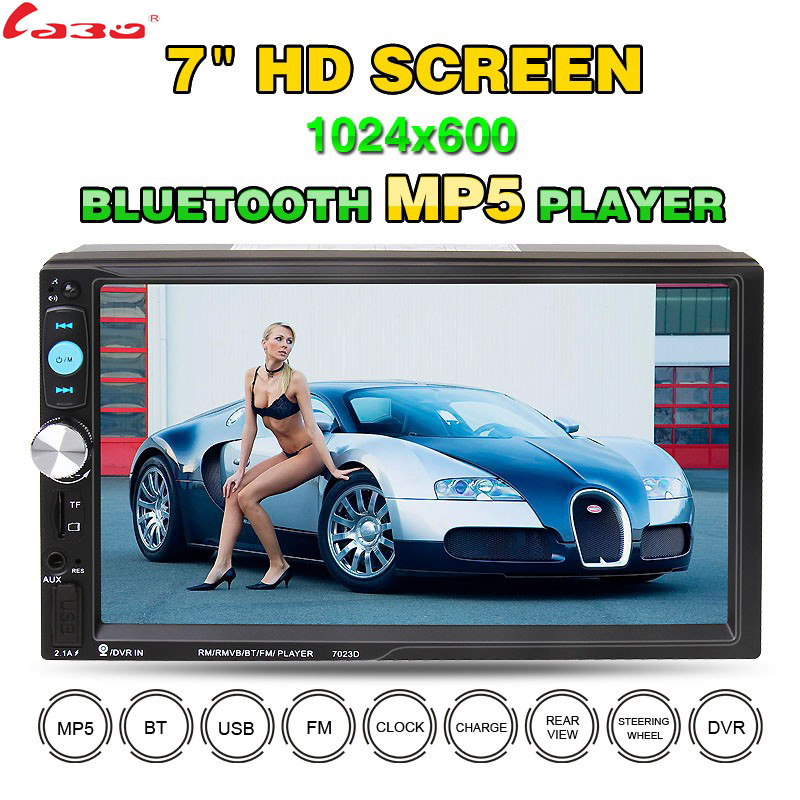 Universal 2 Din Car DVD Double Din Car Video Player Touch Screen Panel Car Audio Player 7023D Support FM/MP5/USB/AUX/Bluetooth free shipping car refitting dvd frame dvd panel dash kit fascia radio frame audio frame for 2012 kia k3 2din chinese ca1016