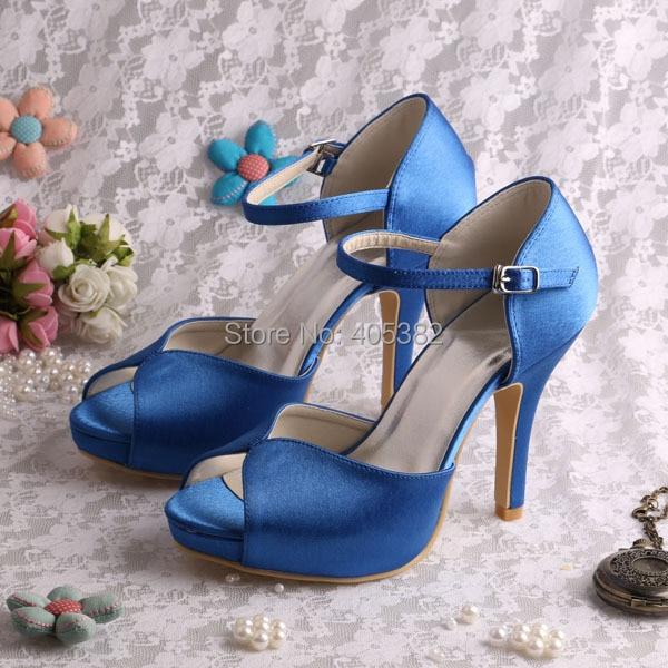 (20 Colors) New Designs Women Sandals Wedding Party Summer 2016 Blue Satin High Heels