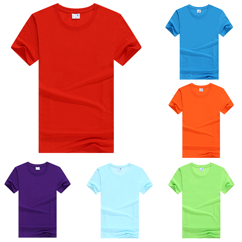 T-Shirt Clothing Short-Sleeve Teenager Girls Boys Tees Solid-Color Summer for Top Students