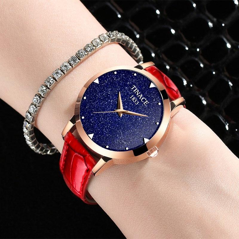 Nova marca de relógio de quartzo senhoras relógio de couro à prova d' água relógio de forma mulher romântica relógio Montre Femme Relogio Faminino