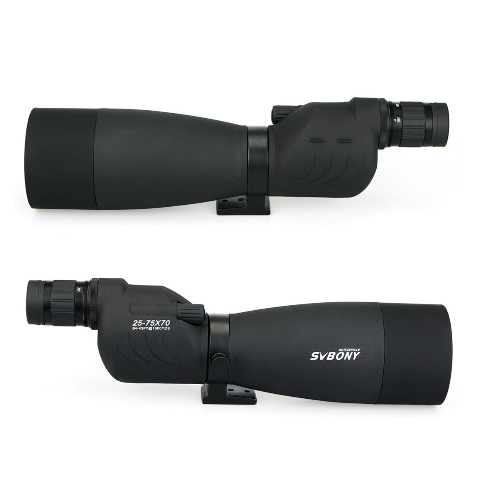 Image 4 - SVBONY Zoom 25 75x70mm SV17 Spotting Scope Waterproof Straight 180 De Telescope + Tripod +Adapter for Birdwatching Archery F9326-in Spotting Scopes from Sports & Entertainment
