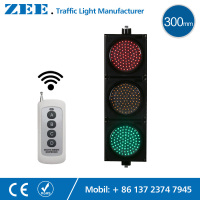 220V 12V 24V Wireless Control LED Traffic Light 12inches 300mm LED Traffic Signal Light Red Green