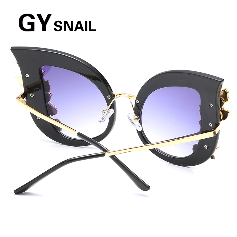 Gy snail moda gato ojo gafas de sol mujer diamante marco vintage ...