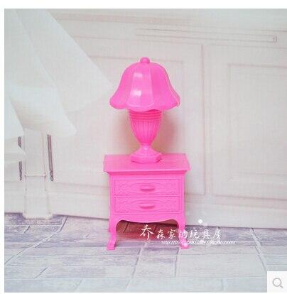 Envío libre, muñeca muebles gabinete + pequeña cama + tocador + ...