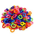 Hot Wholesale 100 Pcs Colorful Child Kids Hair Band Hair Jewelry Rubber Elastics Accessories Charms Tie Gum