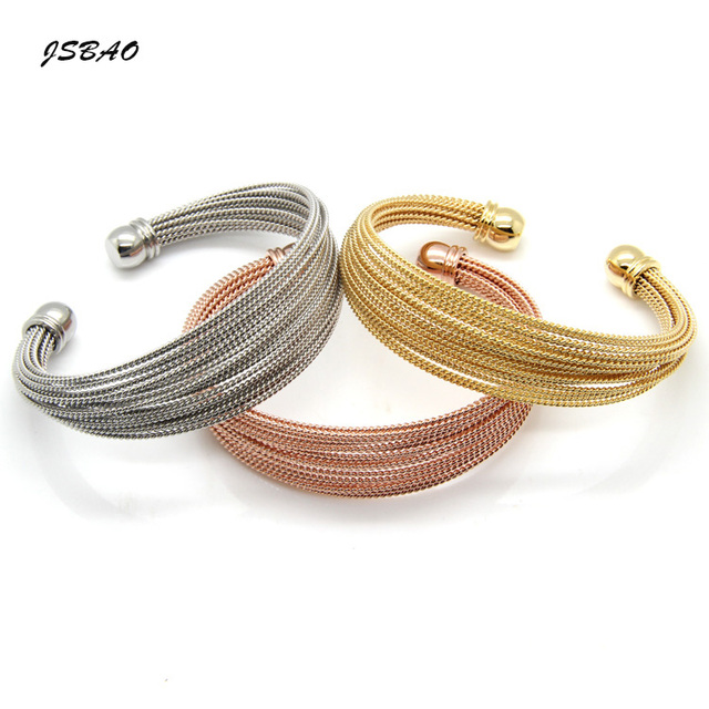 JSBAO Jewelry Stainless Steel A Lot Of Twisted Wire Bracelet Bangle ...