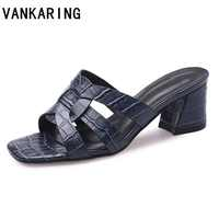 brand shoe summer sandals women cut-outs casual dress shoes genuine leather sandals black white high heel platform sandals mules