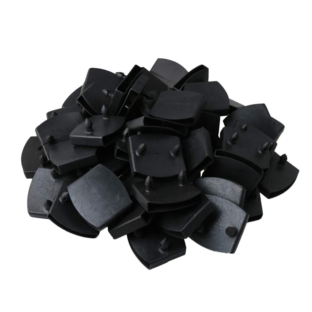 Plastic Double Centre Caps Holders Replacement For Holding And Securing Wooden Slats On The Bed Base Pack Of 50