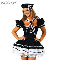 New Europe And The United States Navy Corset Pompon Maid Sailor Suit Costume Hallowen Party Sexy