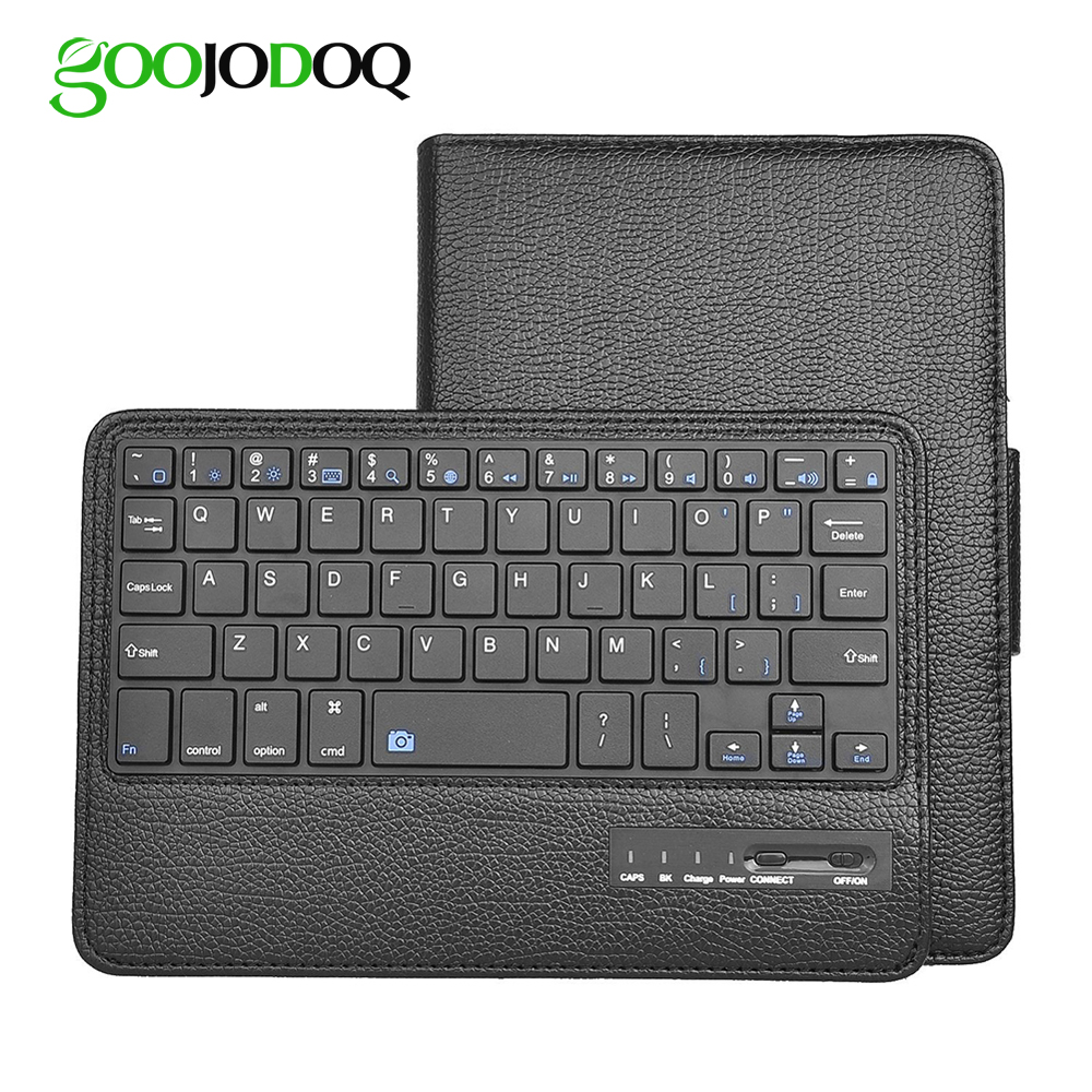 GOOJODOQ Case For iPad mini 1 2 3 4 Bluetooth Keyboard Case + PU Leather Smart Cover Wireless Bluetooth Keyboard for ipad mini кухонная мойка omoikiri daisen 60 be 600х510 ваниль 4993616