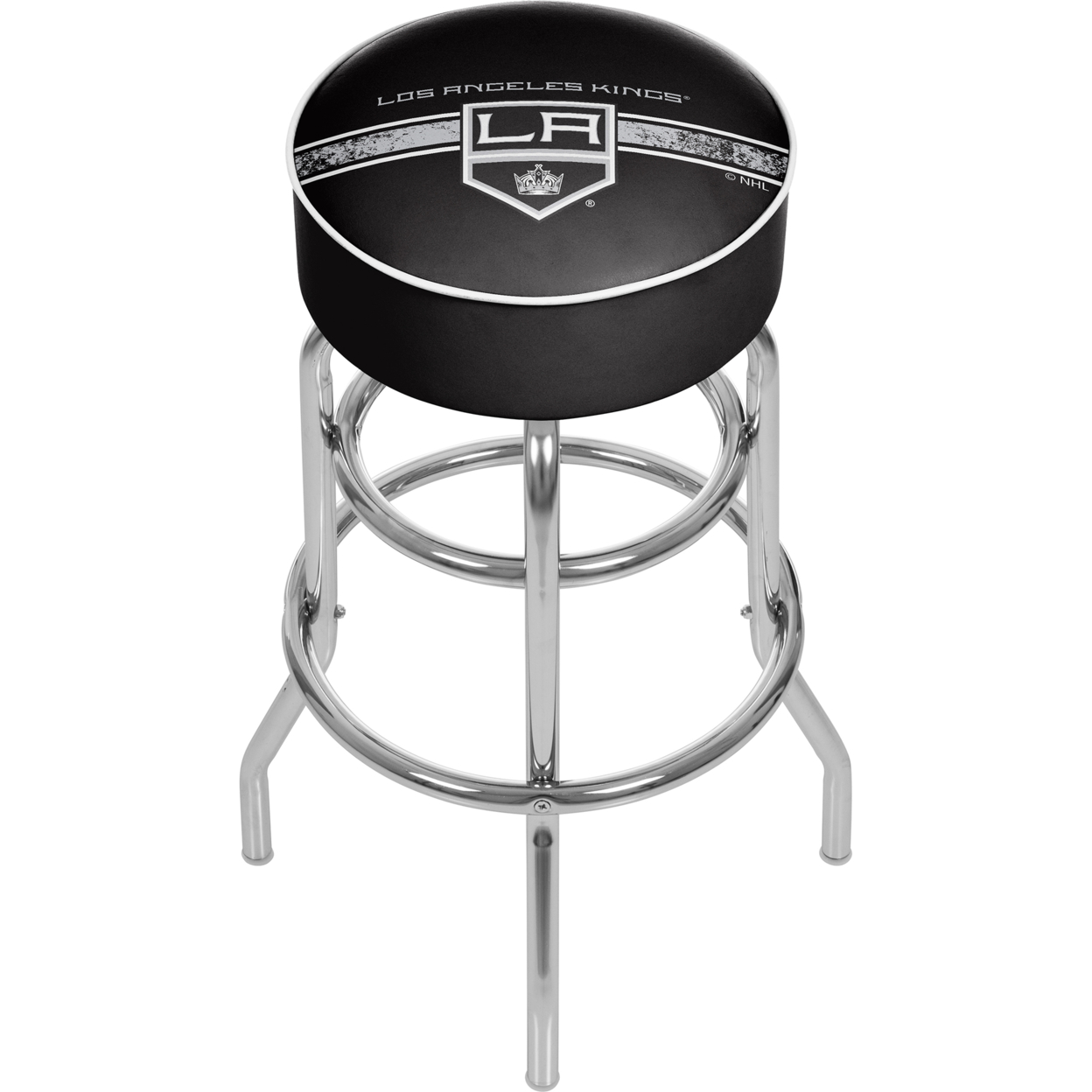 NHL Chrome Padded Swivel Bar Stool 30 Inches High - Los Angeles Kings худи print bar los angeles