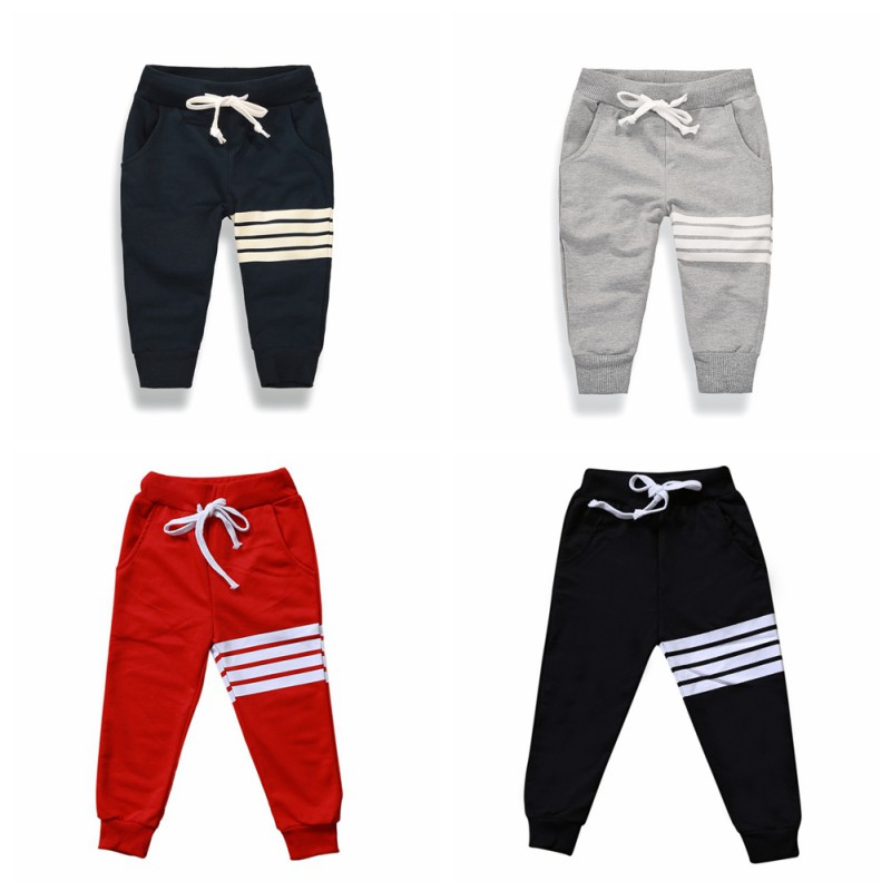 Boys in Cotton Casual Pants in Spring and Autumn