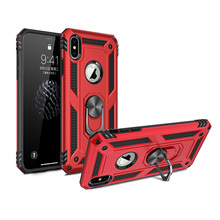 TPU+PC 360° Rotating Sergeant Shatter Resistant Bracket Armor Anti Scratch Case For iPhone X XS 5.8 Shock Proof