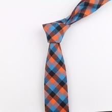Seamless Tie Classic Men's Plaid Necktie Casual Double Face Suit Ties Male Cotton Skinny Slim Ties Colourful Cravat