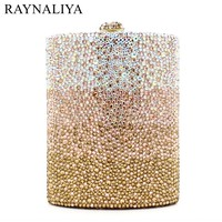 Women Diamond Wedding Party Wine Pot Clutches Hadnbag Perfume Bottle Crystal Evening Clutch Purse Gold Bag SMYZH E0143