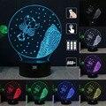HUI YUAN Escorpio RGB Cambiable Lámpara de estado de Ánimo de Luz Nocturna en 3D LED decorativa lámpara de mesa de luz dc 5 v usb conseguir un free remote control