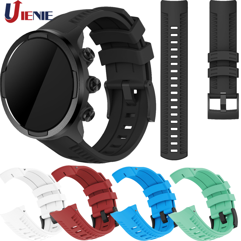 Sport Silicone Watch Band Strap For Suunto 9/9 Brao/Spartan Sport Wrist HR Baro/Sport Baro Smart Watch Bracelet Wristband Strap