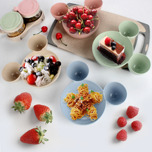 1 Pc Children Baby Bamboo Tableware Solid Feeding Mickey Dishes Baby Bowl Plate Food Feeding Dinnerware Set Plates for Children 1 set baby feeding bamboo fiber cartoon tableware dishes food container bowl cup plates sets for infant baby kids plate