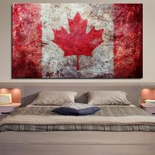 Canada flag Digital Realist Ungerahmt Spray Ölgemälde Leinwand Rahmenlose kunst wohnzimmer stroh digitale Heißer Verkauf miniatur