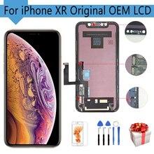 شاشة LCD أصلية 6.1 بوصة لهاتف iphone XR شاشة OEM تعمل باللمس مع محول رقمي للاستبدال 100% أدوات مجربة مجانية لهاتف iPhone XR LCD