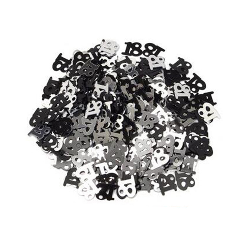Digital Figures 18 <font><b>30</b></font> 40 50 60 <font><b>Confetti</b></font> Happy Birthday Party Numbers Table Scatters Decorations Sprinkle Metallic image