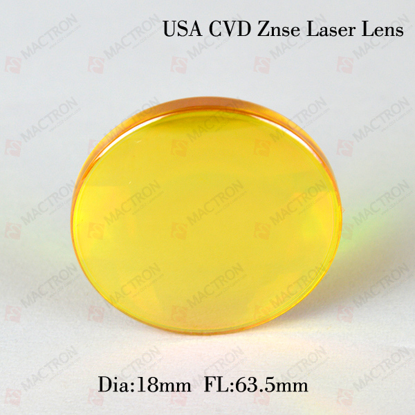 USA ZNSE Co2 Laser Focus Lens USA znse Co2 (USA imported material ) 18mm dia 63.5 Focus Length For Laser Engraving Cutte Machine chinese znse co2 laser lens 18mm dia 63 5mm focus length for laser cutting machine