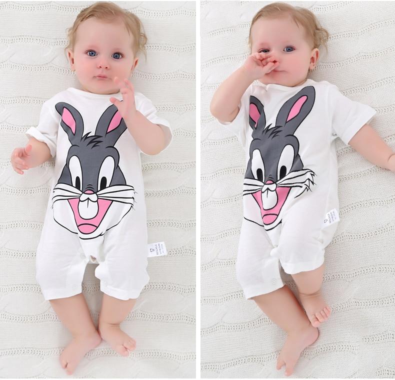 summer 2018 baby bodysuits 0-24M short sleeve body babies newborn baby girl boy clothing cotton infant jumpsuit cartoon costume 5