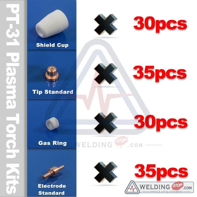 Air plasma cutting torch tips electrode 130pcs for ESAB PT-31 CUT40D LG40 CUT50D plasma 25 air