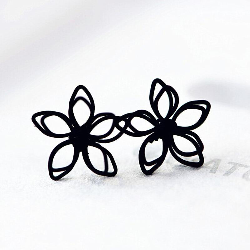 Aretes de Joyería de Moda Hecha A Mano de Flores de Loto ES382 Pendiente Brincos
