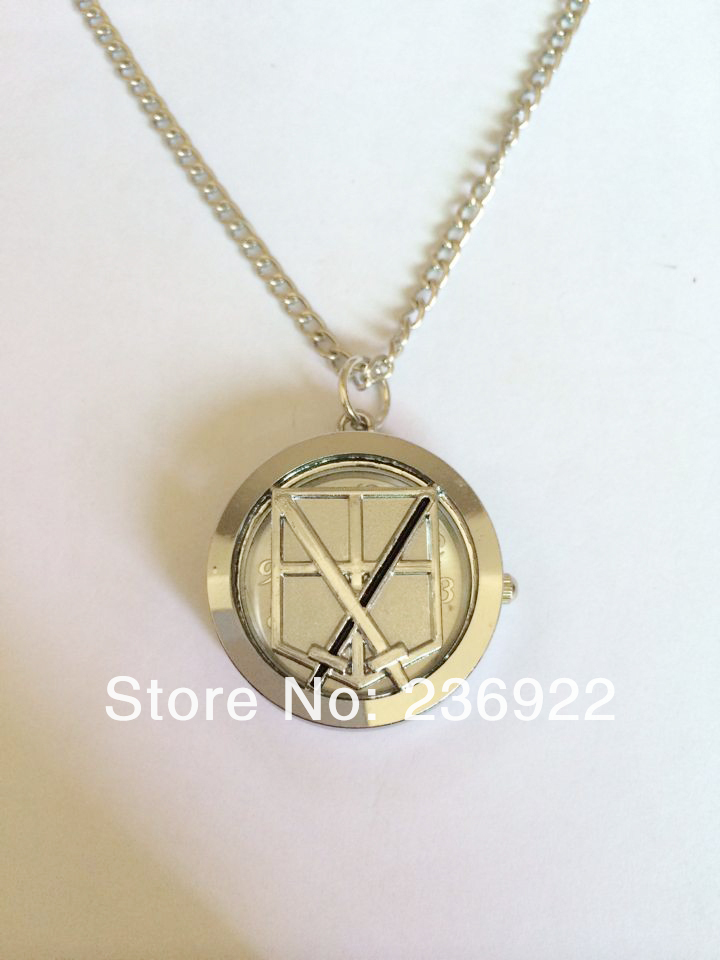 ZRM Fashion silver charm Movie jewelry Attack on Titan Training corps anime pock