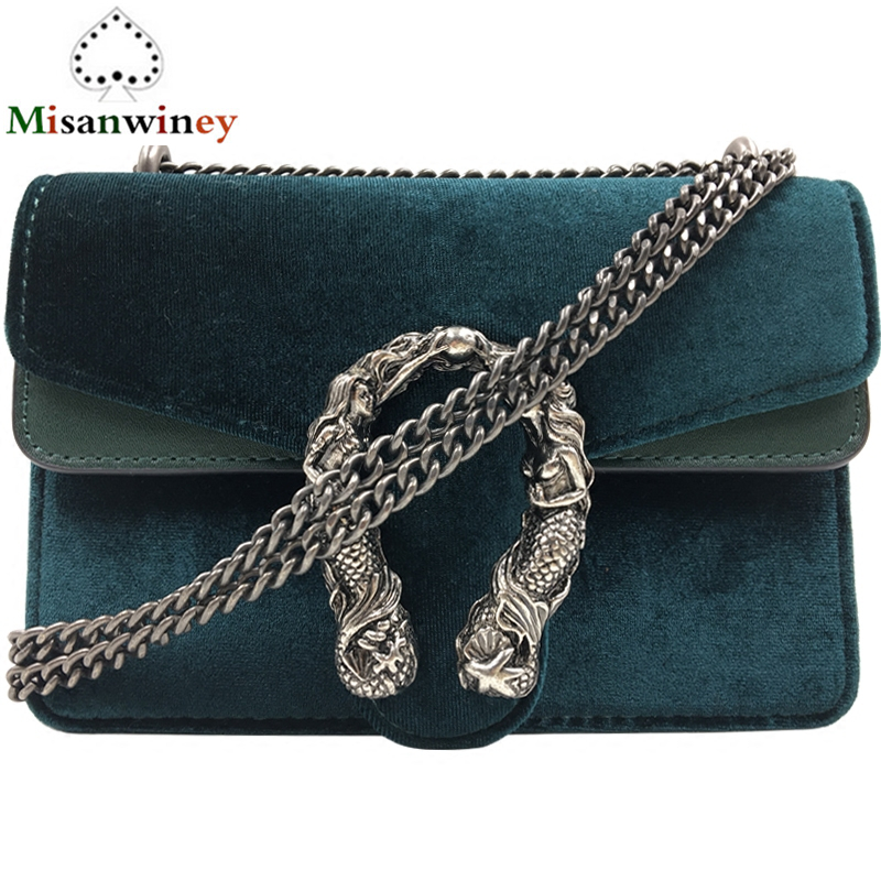 4 Color Luxury Famous Designer Handbags Velvet Messenger Bags Chain Casual Shoulder Bags Retro Crossbody Clutch Brand Womens Bag сумка через плечо bolsas femininas couro sac femininas couro designer clutch famous brand