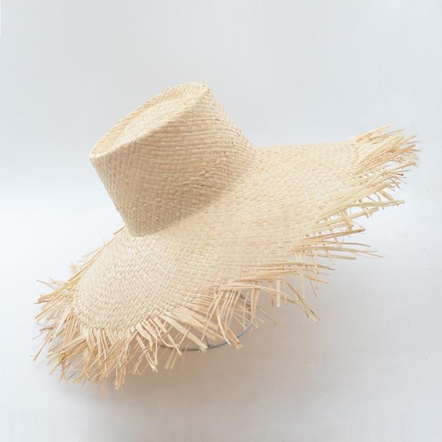 93947023 Muchique Bucket Hat Summer Sun Hat for Women Frayed Edge Raffia Straw Beach  Hat Hot Fashion Floppy Hats