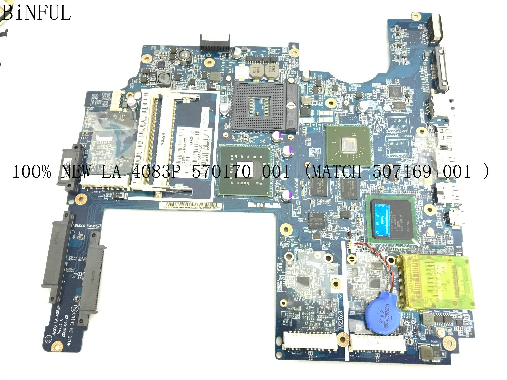 BiNFUL 100% NEW ITEM .. TESTED JAK00 LA-4083P MAINBOARD LAPTOP MOTHERBOARD FOR HP PAVILION DV7 NOTEBOOK PC WITH VIDEO CARD