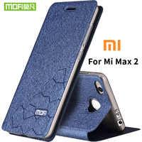 Xiaomi mi max 2 funda de silicona suave tapa trasera Funda de cuero Mofi original xiaomi mi max 2 funda dura TPU fundas funda de teléfono capas