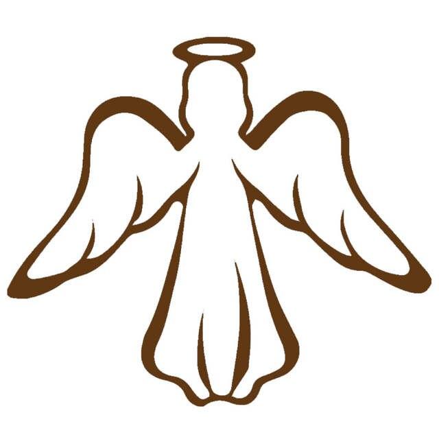 US $0 21 51% OFF|HotMeiNi Modern Holy Peace Guardian Angel Catholic Church  Car Sticker Bumper Door Laptop Kayak Car Decor Vinyl Decal 10 Colors-in Car