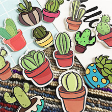 1 Pz/lotto Cartoon Cactus Bonsai Spilla Acrilico Distintivi Icone sullo Zaino Pin Distintivo Decorazione Badge Per Il Vestito, Camicia, gonna(China)